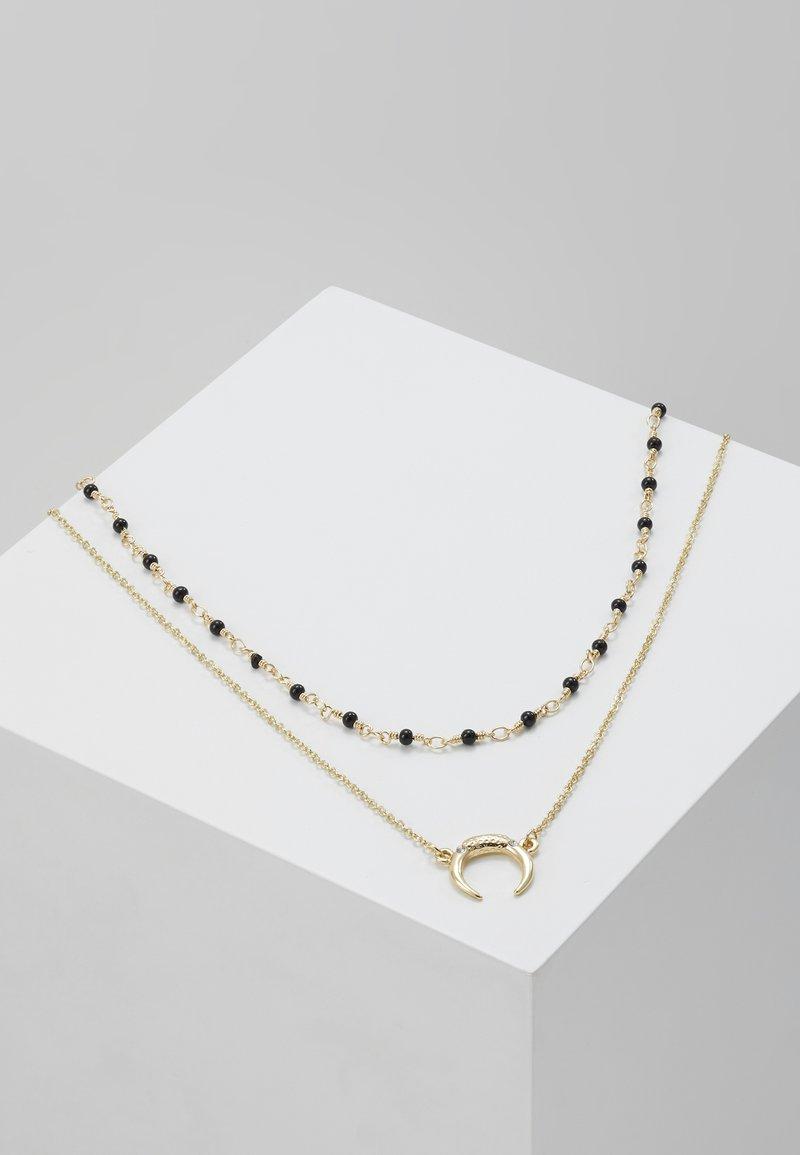 Pieces - PCAME COMBI NECKLACE - Collar - gold-coloured/black
