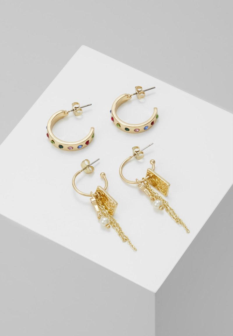 Pieces - PCJAMINE HOOP EARRINGS 2 PACK - Øreringe - gold-coloured