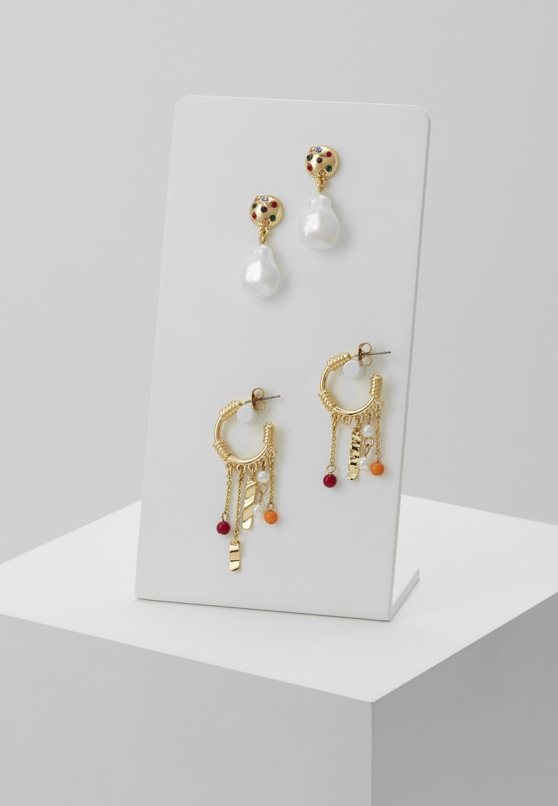 Pieces - PCMAGNY EARRINGS 2 PACK - Øreringe - gold-coloured