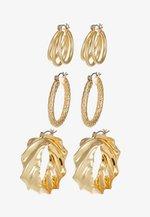 PCMAILA HOOP EARRINGS 3 PACK - Oorbellen - gold-coloured