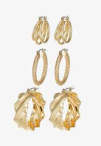 Pieces - PCMAILA HOOP EARRINGS 3 PACK - Boucles d'oreilles - gold-coloured - 4