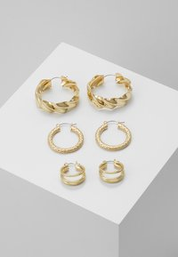 Pieces - PCMAILA HOOP EARRINGS 3 PACK - Boucles d'oreilles - gold-coloured - 0