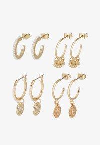 Pieces - PCHIPEA HOOP EARRINGS 4 PACK - Oorbellen - gold-coloured - 3