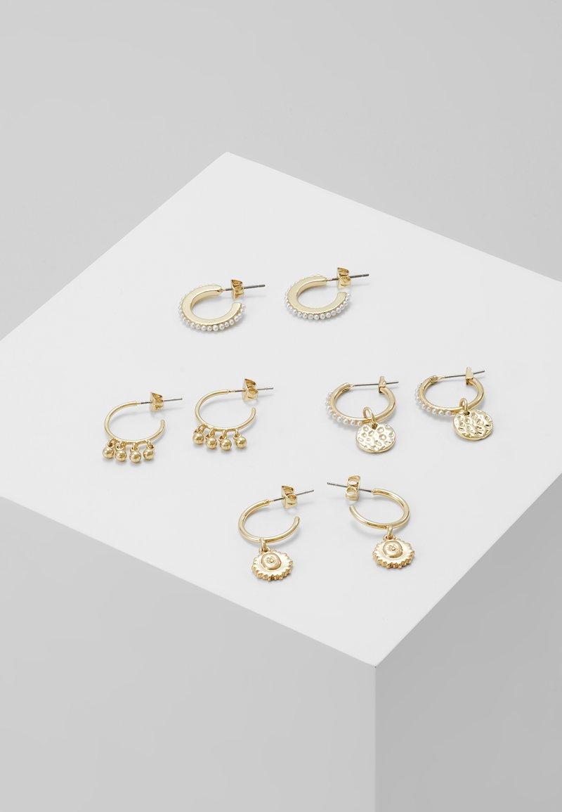 Pieces - PCHIPEA HOOP EARRINGS 4 PACK - Oorbellen - gold-coloured