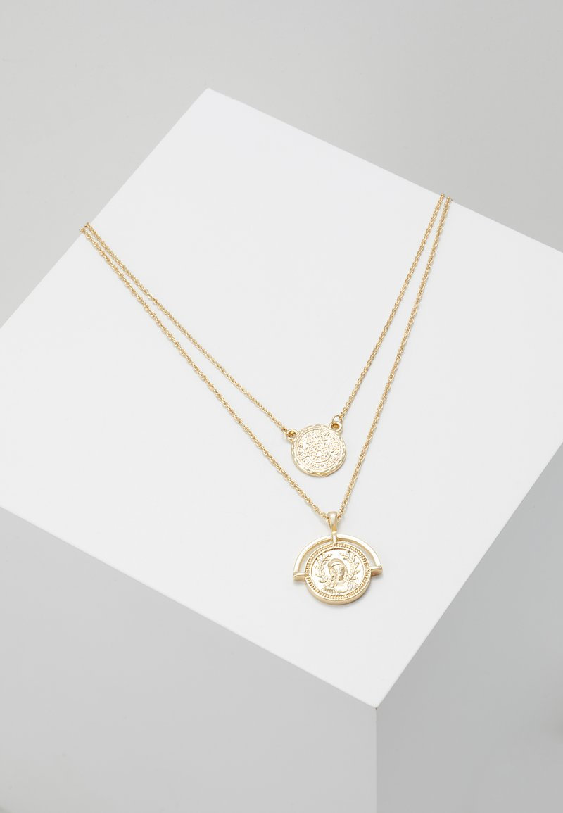 Pieces - PCIMA COMBI NECKLACE KEY - Necklace - gold-coloured