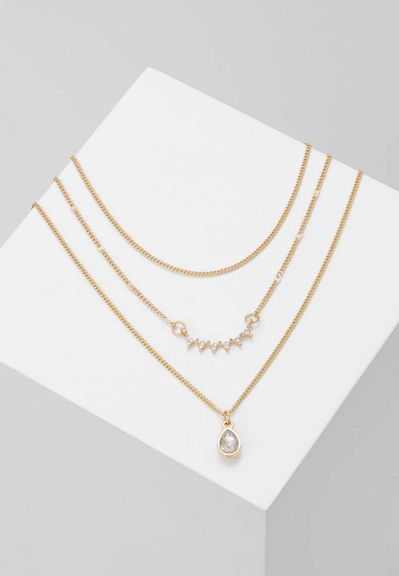 Pieces - PCIMALA COMBI NECKLACE KEY - Collar - gold-coloured