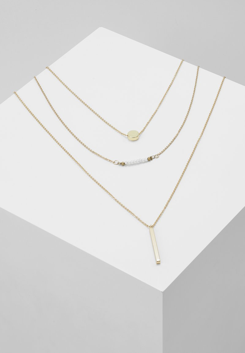 Pieces - Necklace - gold-coloured
