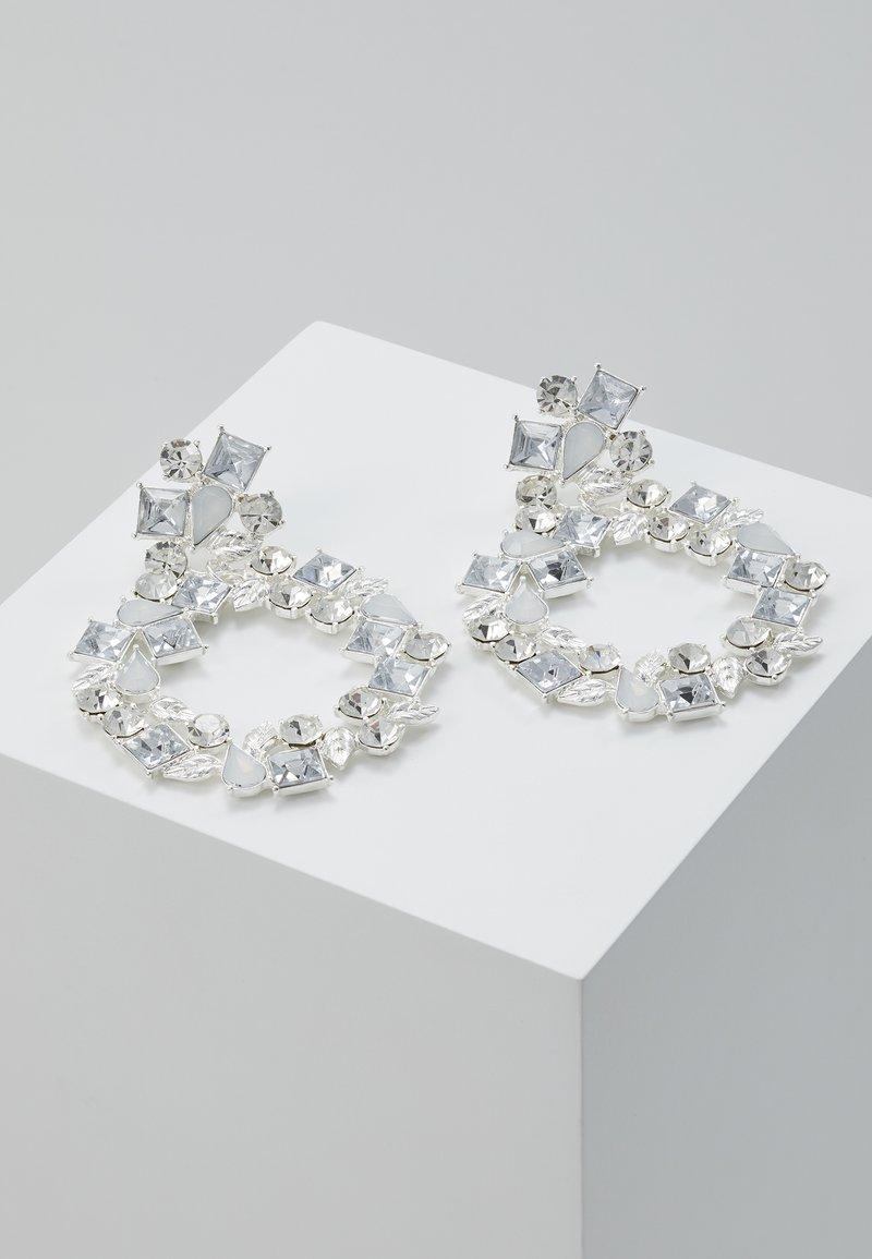 Pieces - Oorbellen - silver-coloured