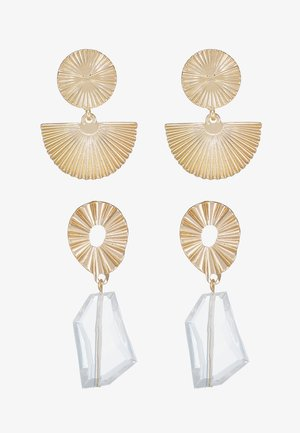 Earrings - gold-coloured/clear