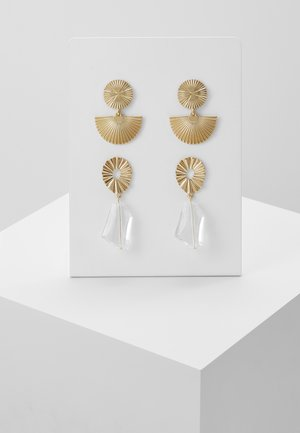 Pendientes - gold-coloured/clear