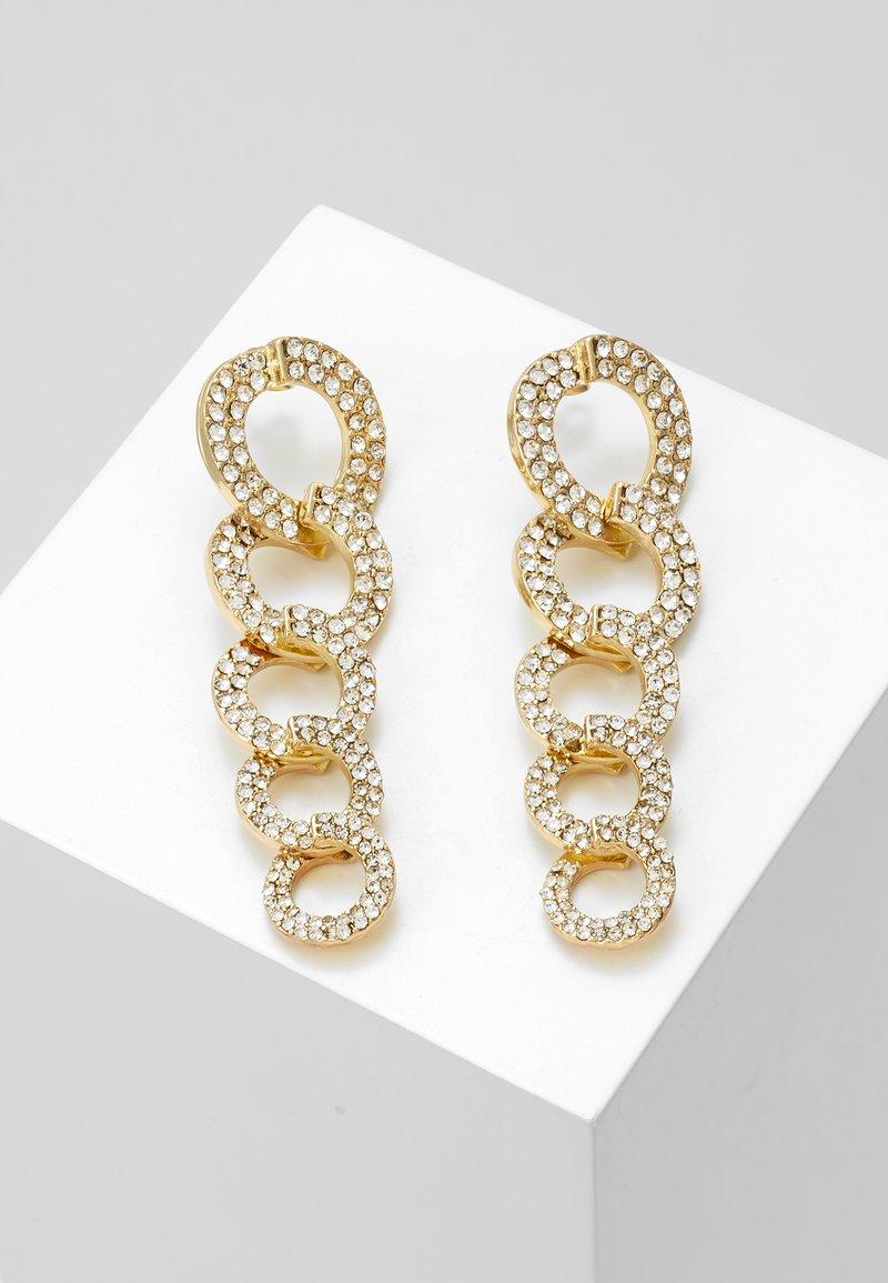Pieces - Boucles d'oreilles - gold-coloured/clear