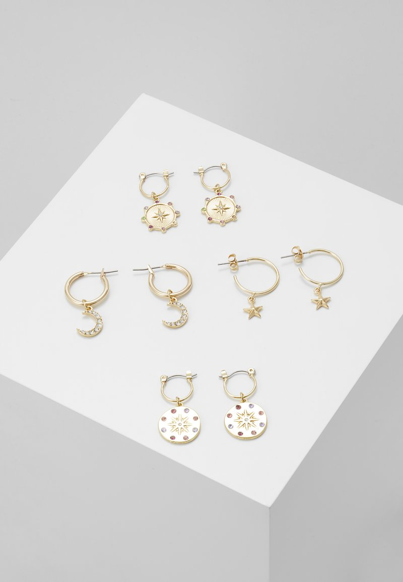 Pieces - PCAMOONA HOOP EARRINGS 4 PACK - Ohrringe - gold-coloured/multi