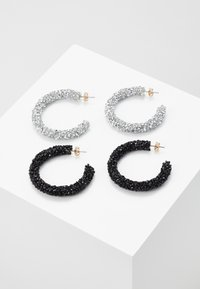 Pieces - PCOGLIO HOOP EARRINGS 2 PACK - Náušnice - silver-coloured - 0
