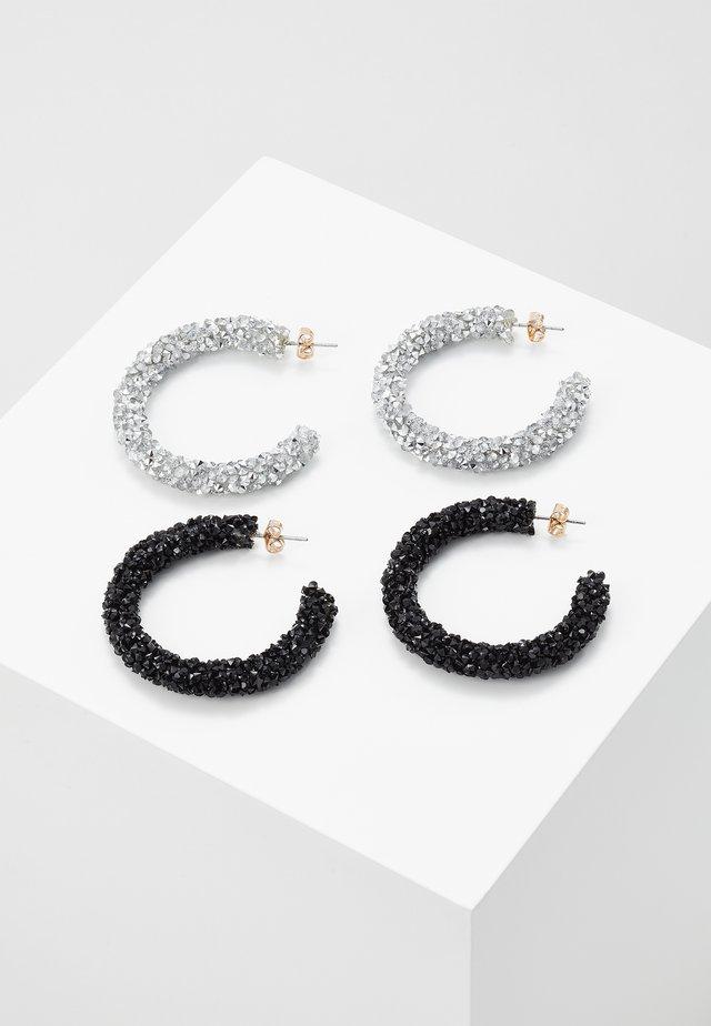 PCOGLIO HOOP EARRINGS 2 PACK - Oorbellen - silver-coloured