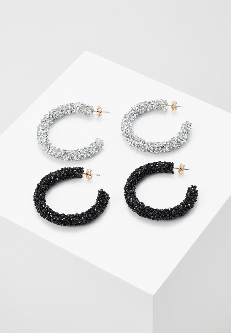 Pieces - PCOGLIO HOOP EARRINGS 2 PACK - Náušnice - silver-coloured