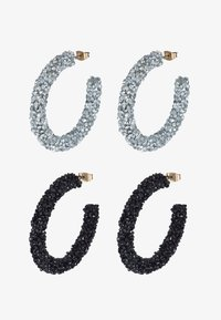 Pieces - PCOGLIO HOOP EARRINGS 2 PACK - Náušnice - silver-coloured - 3