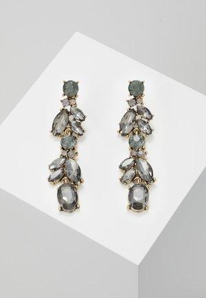 PCJUDY EARRINGS KEY - Earrings - gold-coloured/grey