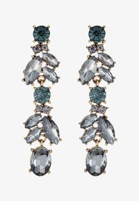 Pieces - PCJUDY EARRINGS KEY - Earrings - gold-coloured/grey