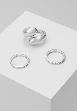 PCTELLEN SET 3 PACK - Ringe - silver-coloured