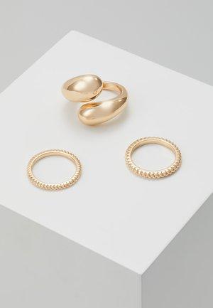 PCTELLEN SET 3 PACK - Ringe - gold-coloured