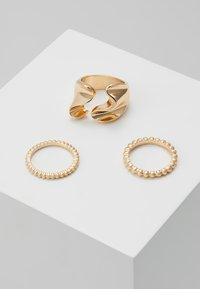 Pieces - PCLINNEA RING 3 PACK - Ring - gold-coloured - 0