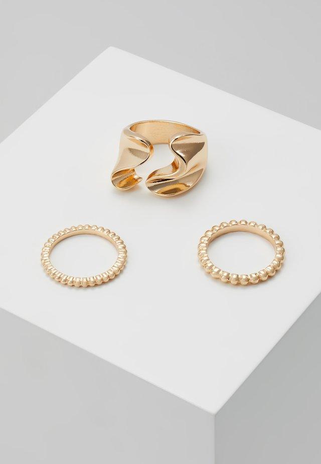 PCLINNEA RING 3 PACK - Prsten - gold-coloured