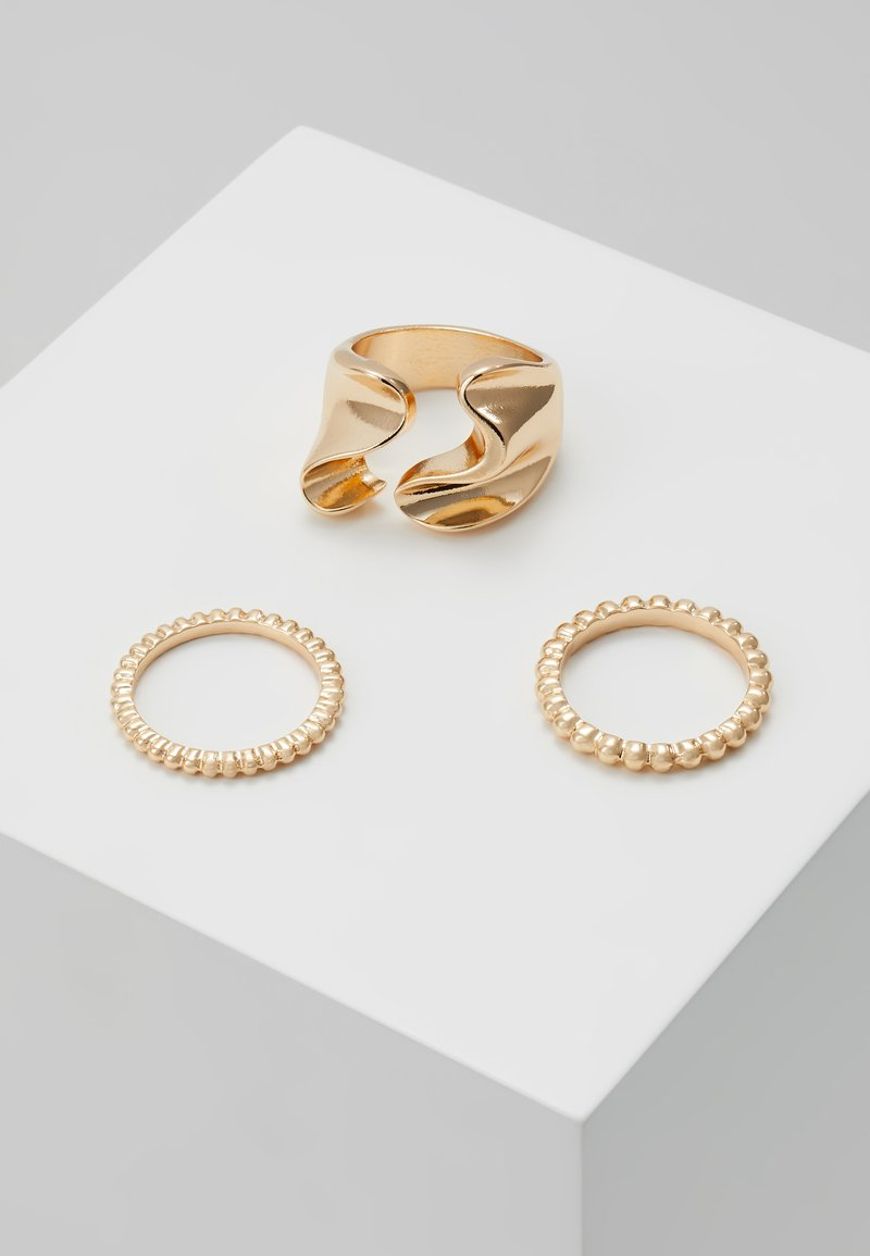 Pieces - PCLINNEA RING 3 PACK - Ring - gold-coloured
