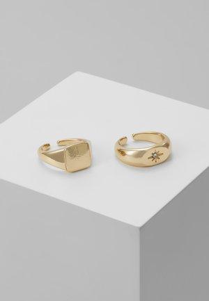 PCMADELINA RING SET 2 PACK - Ring - gold-coloured