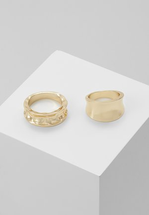 PCMOLTINA 2 PACK - Ringe - gold-coloured
