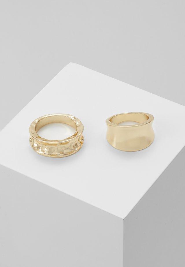 PCMOLTINA 2 PACK - Ringe - gold-coloured