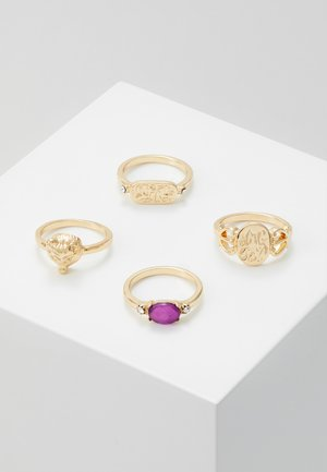 PCMADELINE RING 4 PACK - Bague - gold-coloured/purple