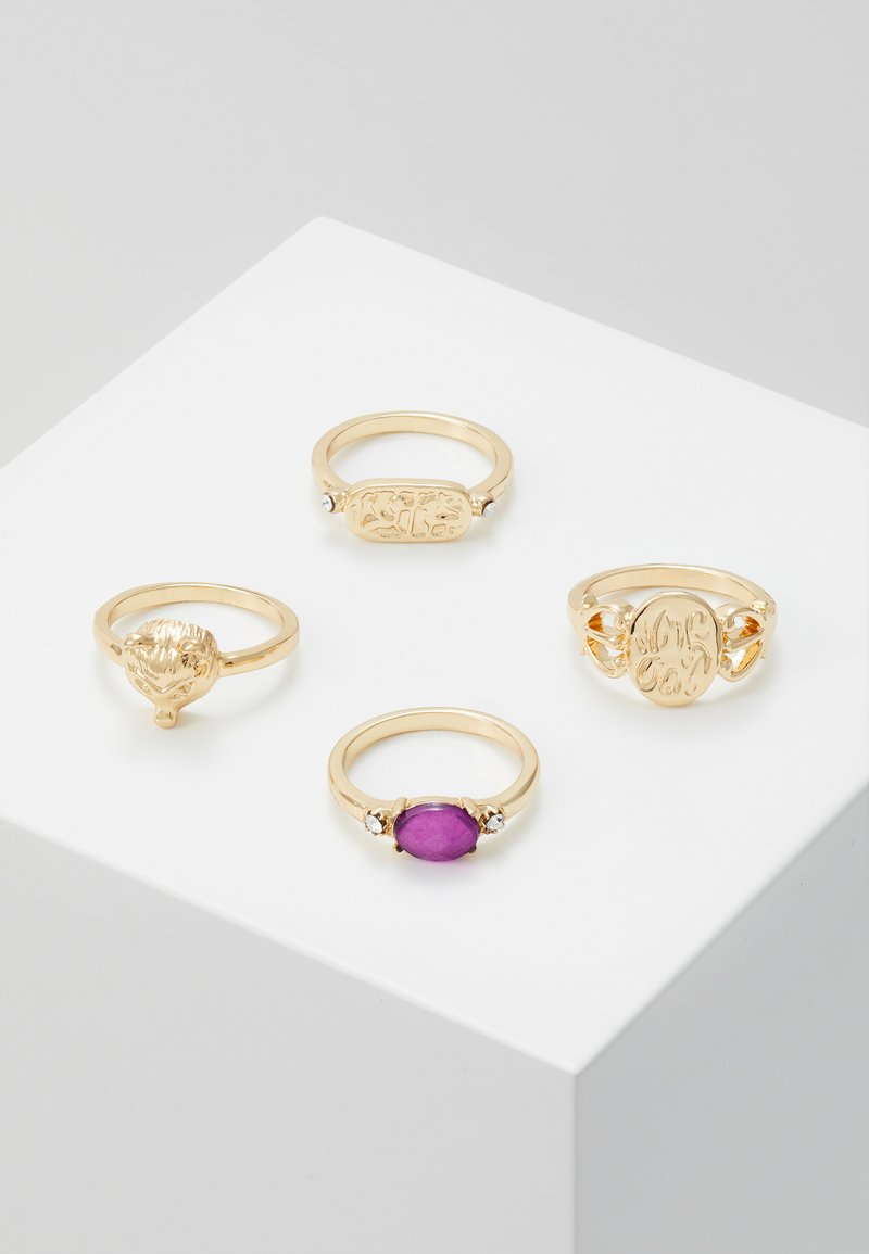 Pieces - PCMADELINE RING 4 PACK - Ring - gold-coloured/purple
