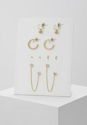 PCKALINE EARRINGS 5 PACK - Earrings - gold-coloured