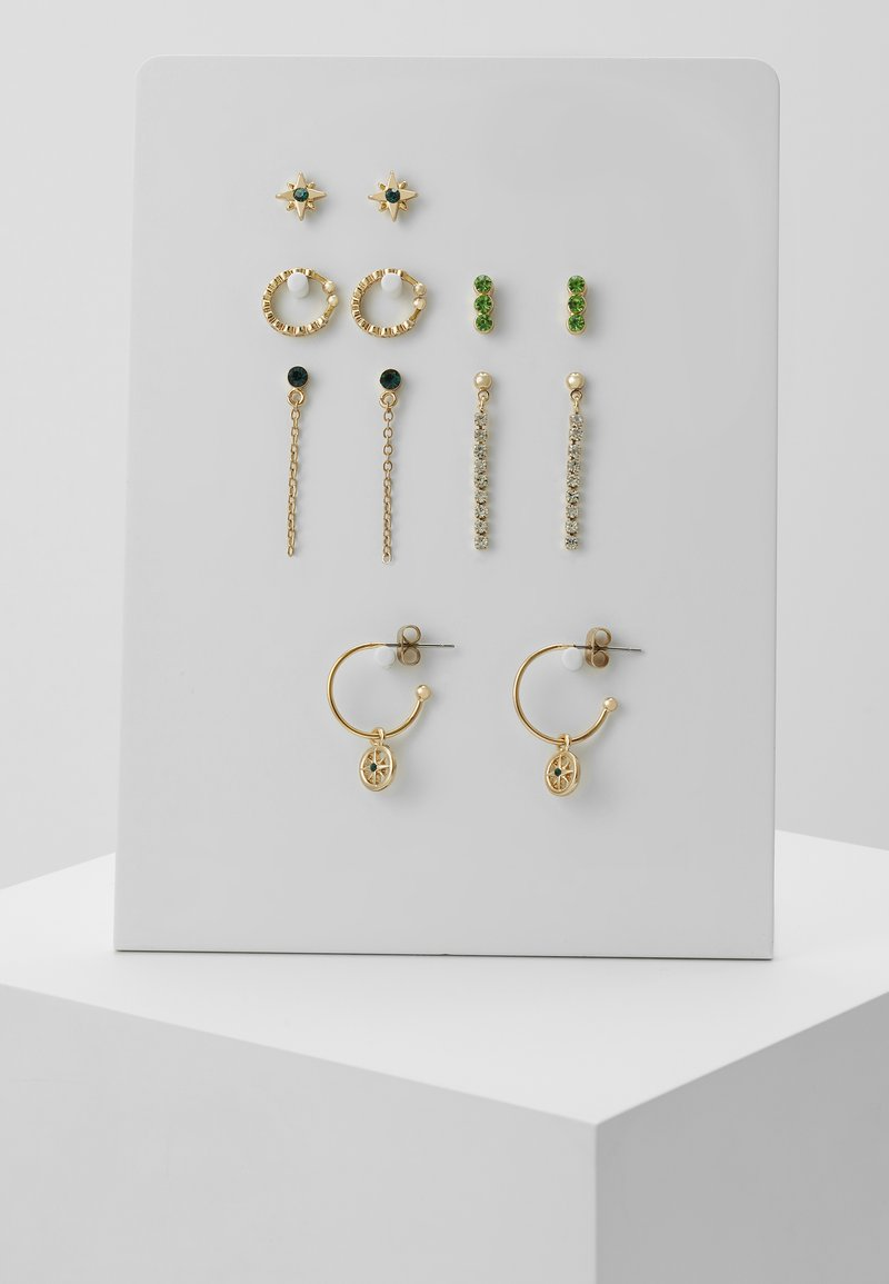 Pieces - PCEMSE EARRINGS 6 PACK SET - Korvakorut - gold colour