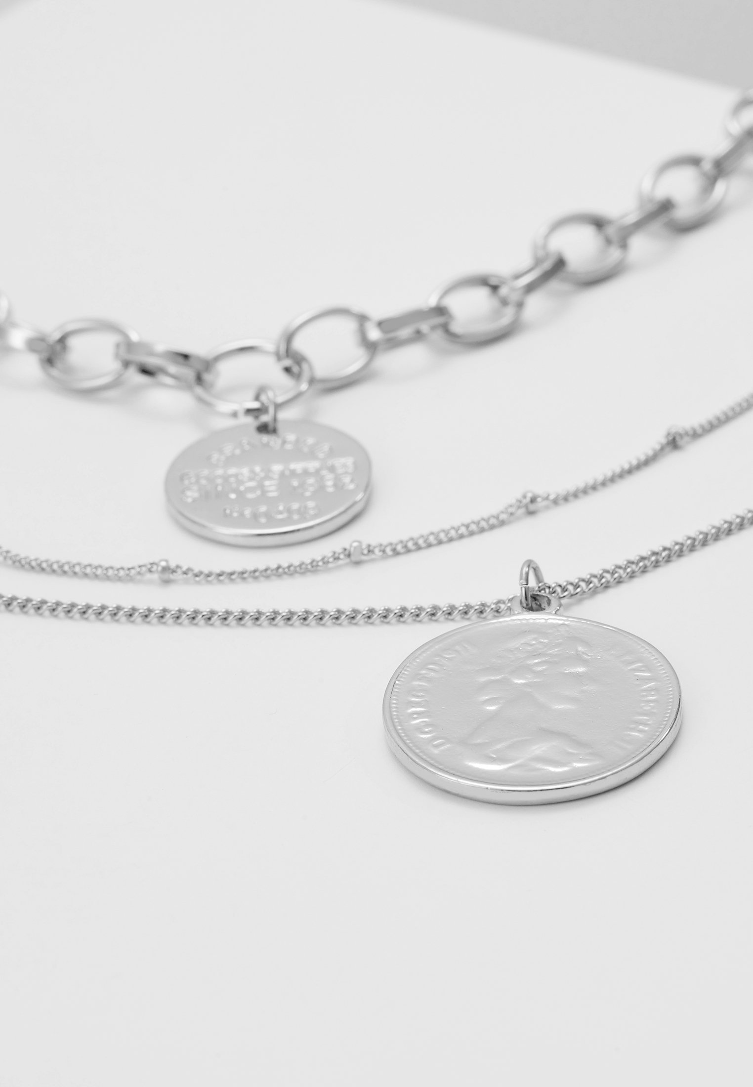 Pieces Pcdiane Combi Necklace - Halskæder Silver-coloured