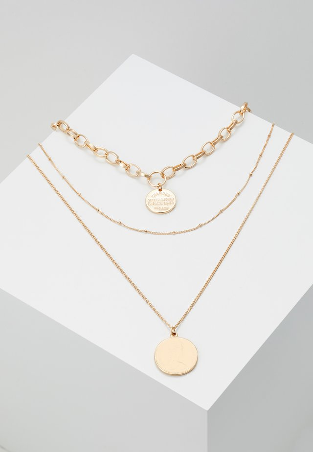 PCDIANE COMBI NECKLACE - Halsband - gold-coloured