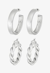 Pieces - PCOLKA HOOP EARRINGS 2 PACK - Øredobber - silver-coloured - 3
