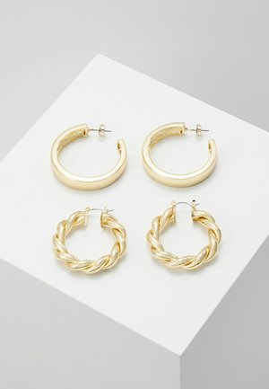 PCOLKA HOOP EARRINGS 2 PACK - Øredobber - gold-coloured