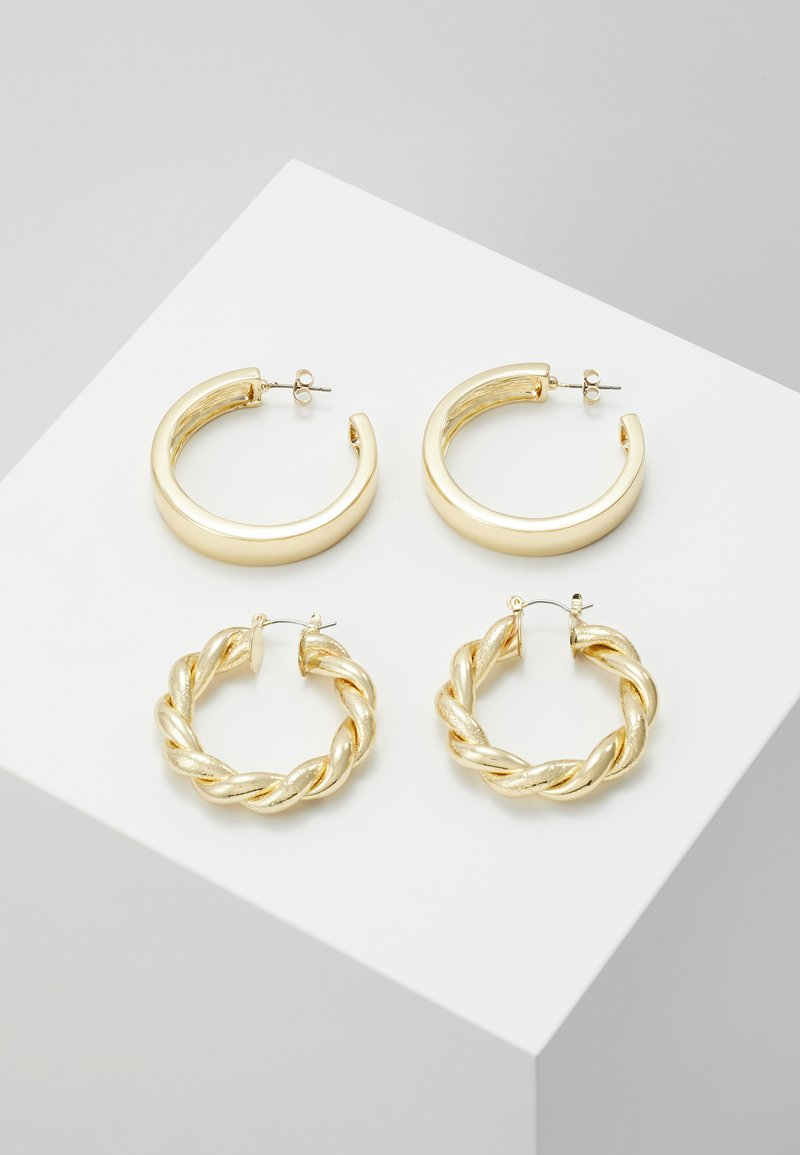 Pieces - PCOLKA HOOP EARRINGS 2 PACK - Øredobber - gold-coloured