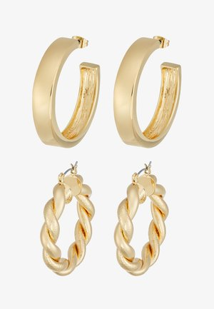 PCOLKA HOOP EARRINGS 2 PACK - Boucles d'oreilles - gold-coloured