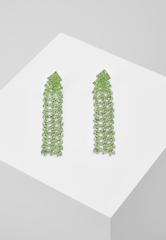 PCDICTE EARRINGS - Oorbellen - silver-coloured/green ash