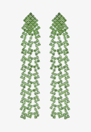 PCDICTE EARRINGS - Oorbellen - silver-coloured/green ash