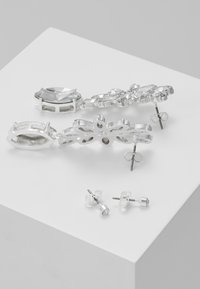Pieces - PCDIAM EARRINGS KEY 2 PACK - Náušnice - silver colour/clear - 2