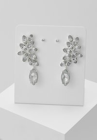 Pieces - PCDIAM EARRINGS KEY 2 PACK - Náušnice - silver colour/clear - 0