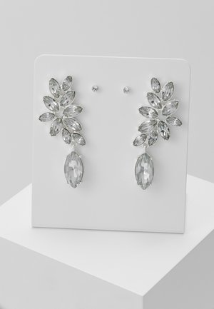 PCDIAM EARRINGS KEY 2 PACK - Náušnice - silver colour/clear