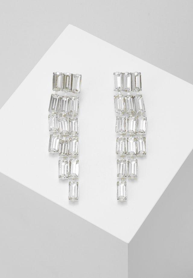 PCORIA EARRINGS KEY - Oorbellen - silver-coloured