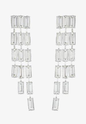 PCORIA EARRINGS KEY - Øreringe - silver-coloured