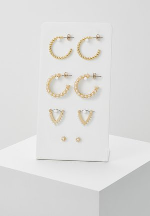 PCNIVI EARRINGS 4 PACK - Oorbellen - gold-coloured