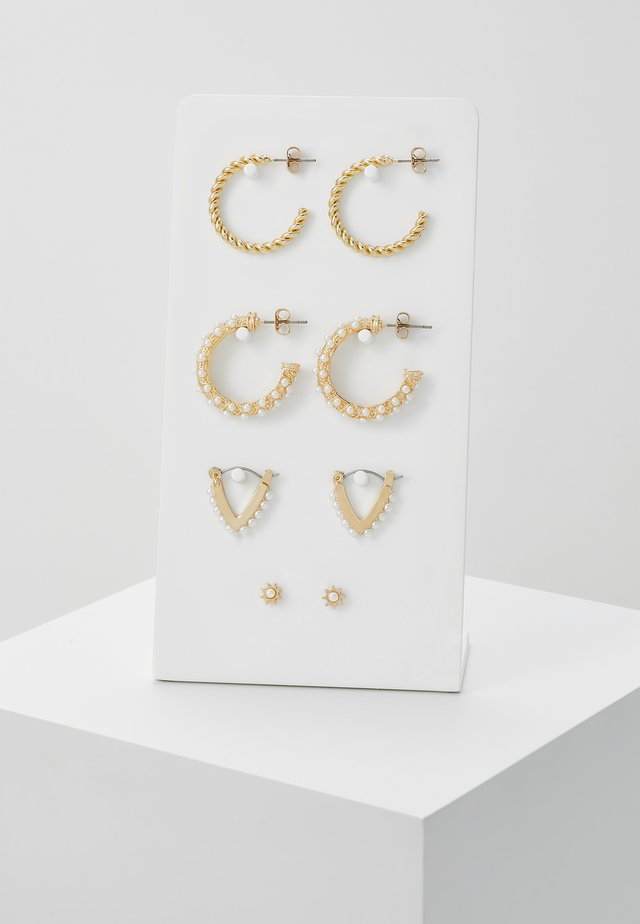 PCNIVI EARRINGS 4 PACK - Earrings - gold-coloured