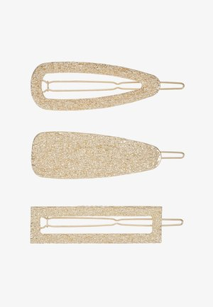 PCABELINA HAIRCLIP 3 PACK - Hair styling accessory - gold-coloured